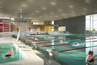 Projektet Frederikssund Svømmehal omfatter opførelse af en ny svømmehal som en del af fremtidig idrætsby i Frederikssund Kommune