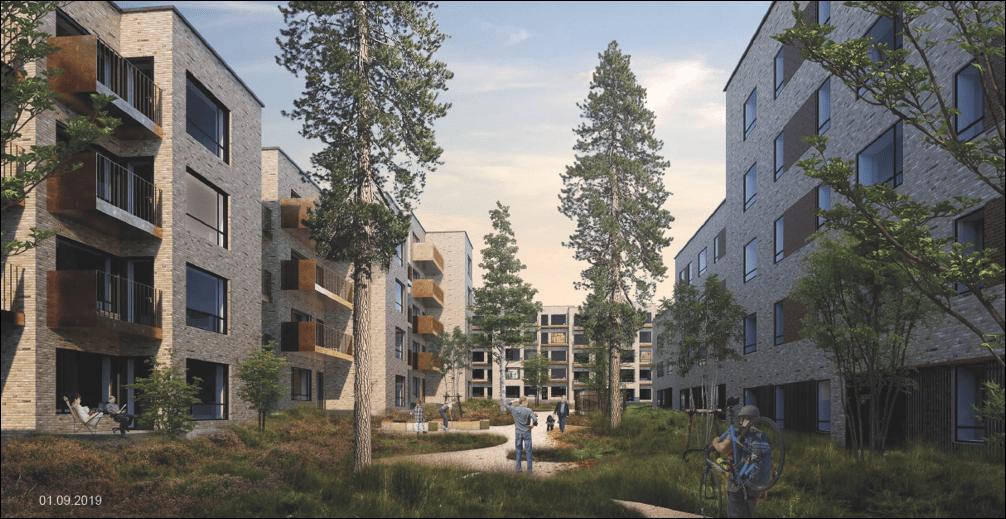 Projektet Lynghaven omfatter ingeniørrådgivning vedr. tekniske installationer på 184 nybyggede boliger.
