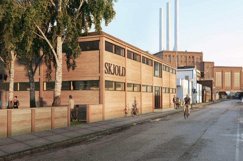 Roklubben Skjold skal totalrenoveres og ombygges, og det konstruktive system: søjler bjælker, betondæk genanvendes.